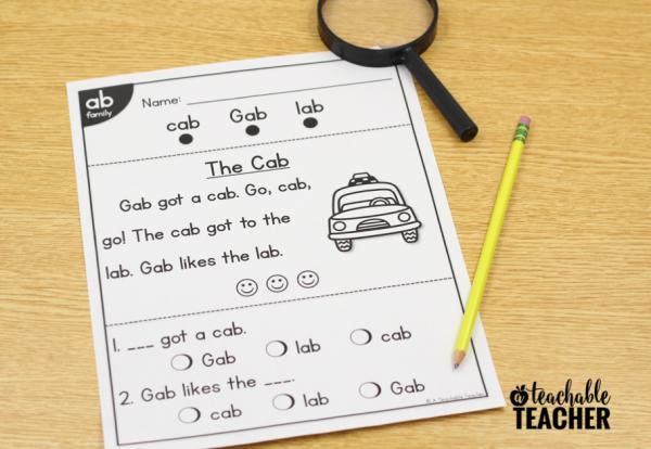 kindergarten phonics worksheet