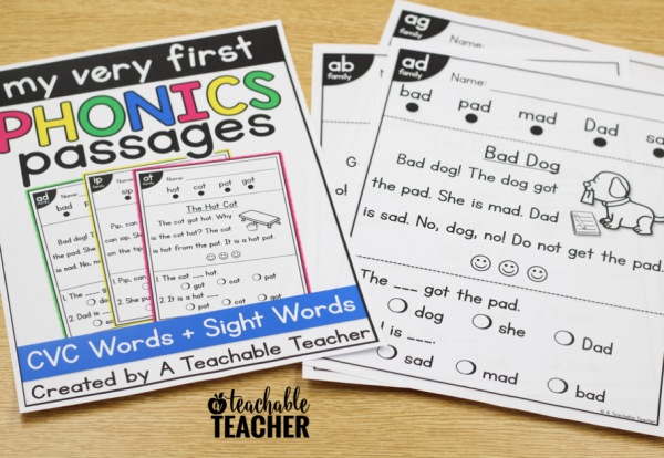 kindergarten reading passages
