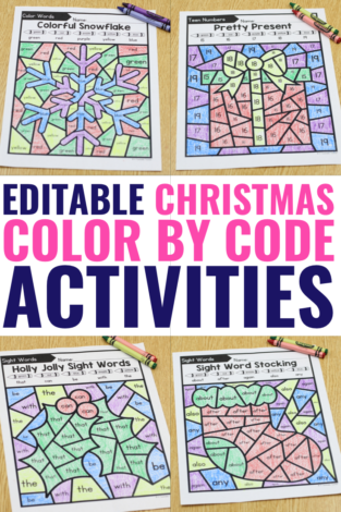 holiday activity color by code