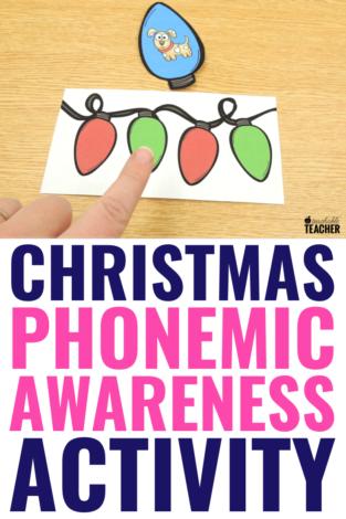 Festive Christmas Phonemic Awareness Activity