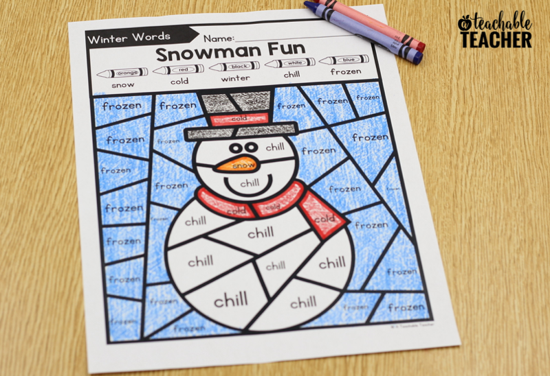 editable snowman color by code