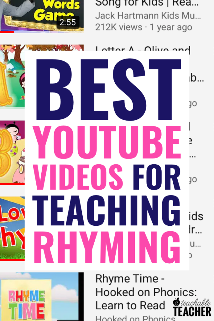 rhyming videos for kids