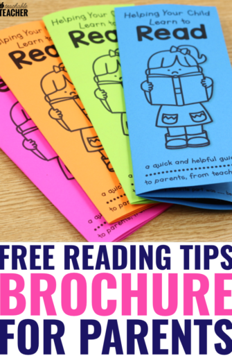 reading tips brochure for parents