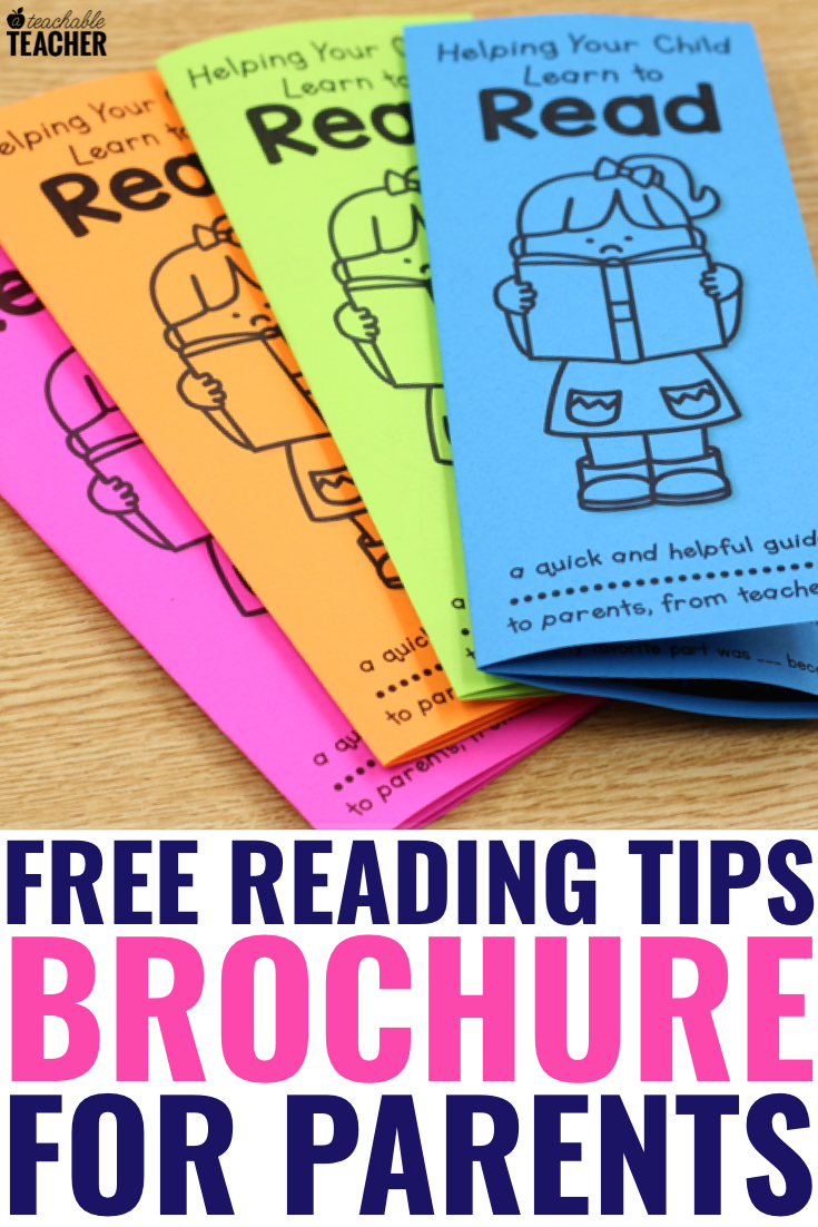 - FREE Reading Tips Brochure - To Parents From Teachers - A