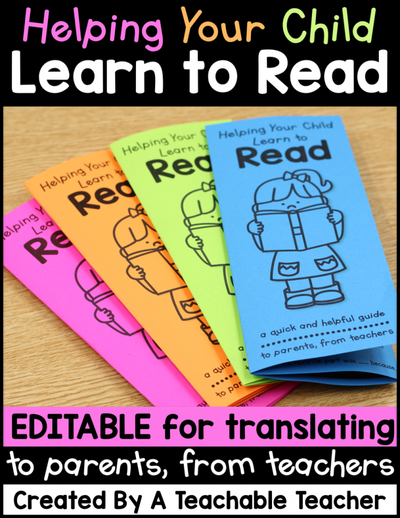 editable reading tips brochure