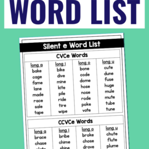 The Ultimate List of CVCe Words