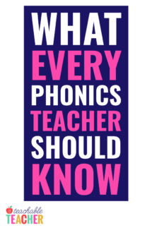 what every phonics teacher should know