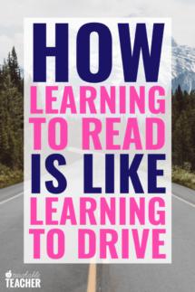 how teaching phonics is like teaching driving