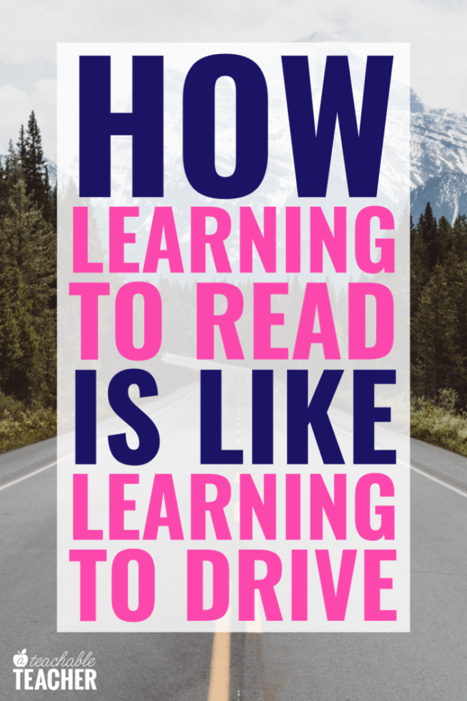 how teaching phonics is like teaching driving