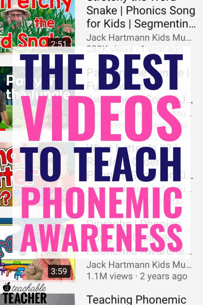 videos to teach phonemic awareness in the classroom