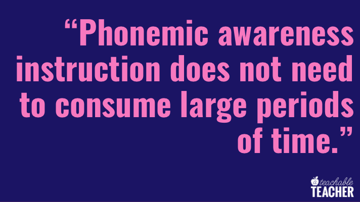 phonemic awareness instruction in the classroom