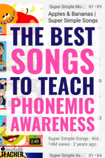phonemic awareness songs