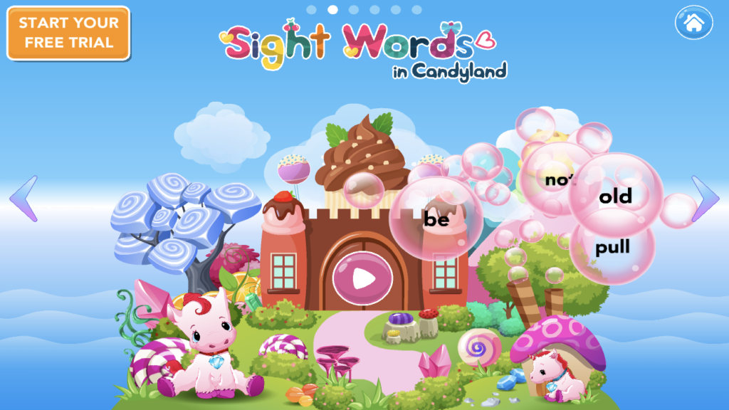 sight words in candyland