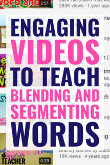 blending and segmenting words videos