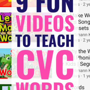 9 Entertaining Videos to Teach CVC Words with Music and Movement
