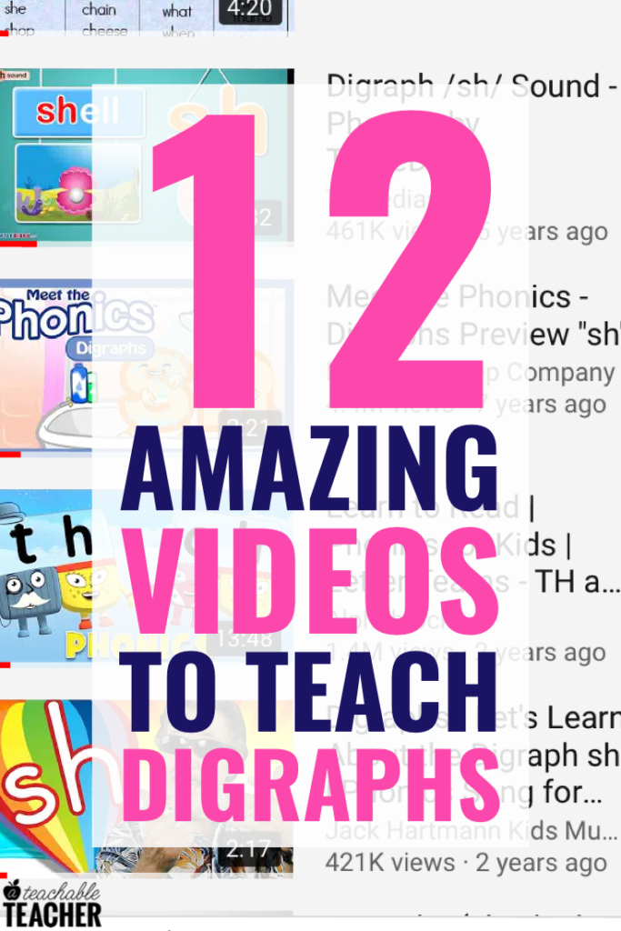 videos to teach phonics digraphs