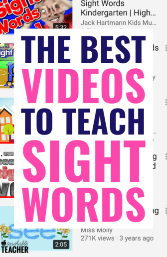 sight word videos