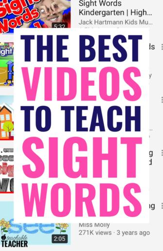 sight word videos