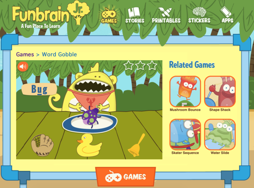 online phonemic awareness sound game