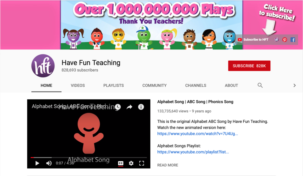 have fun teaching phonics youtube channels