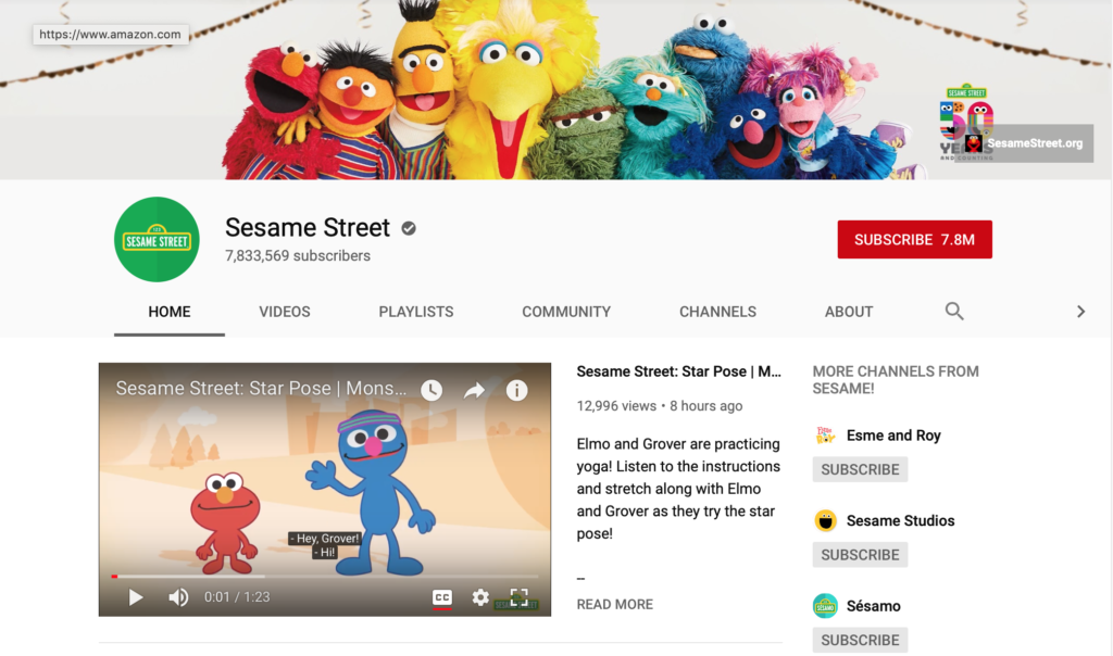 sesame street phonics youtube channels