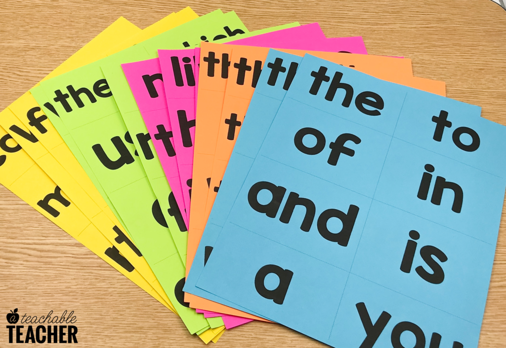 free sight word flashcards