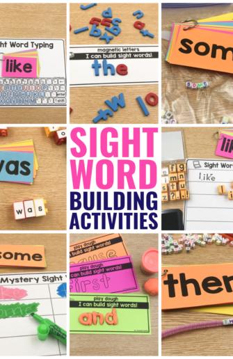 sight word building activities