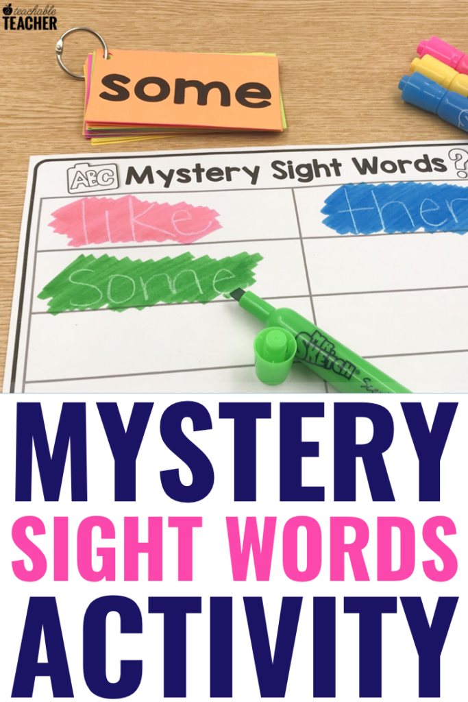 sight word mystery word activity