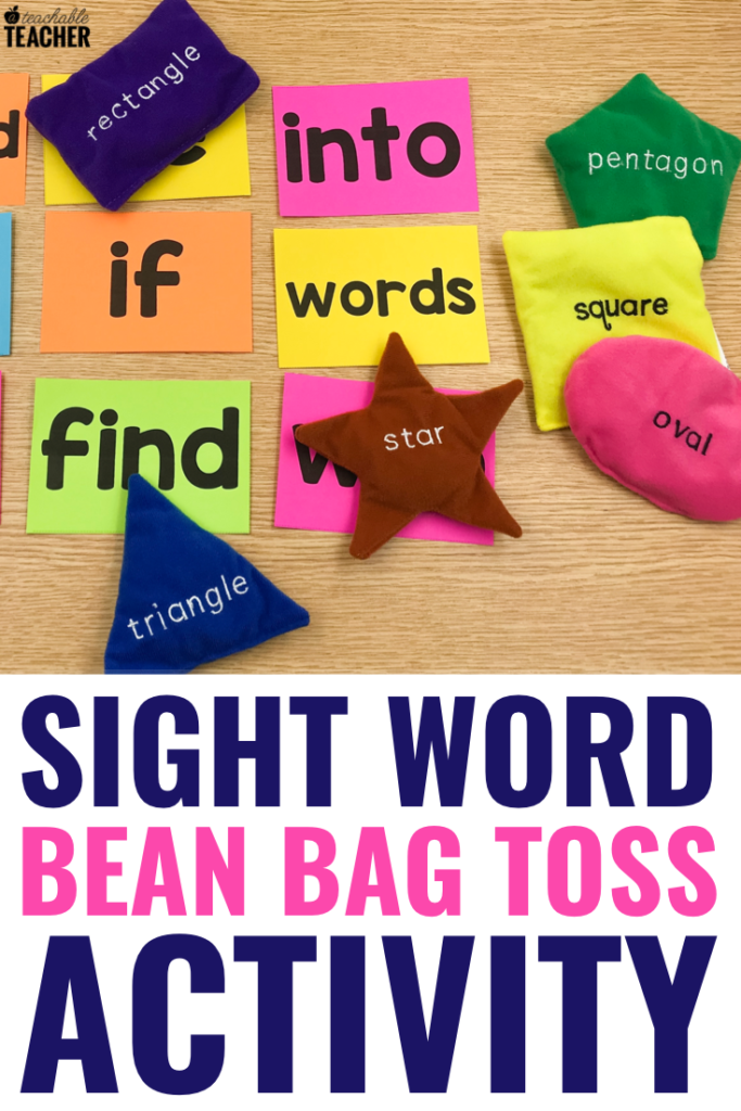sight word bean bag toss activity