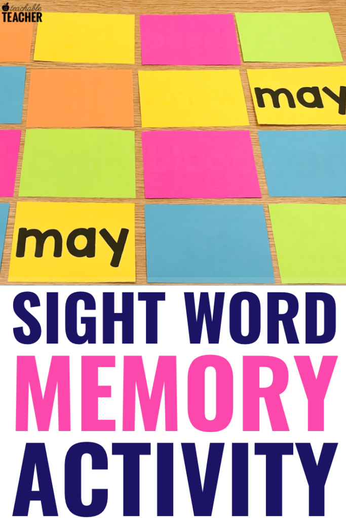 sight word memory activity