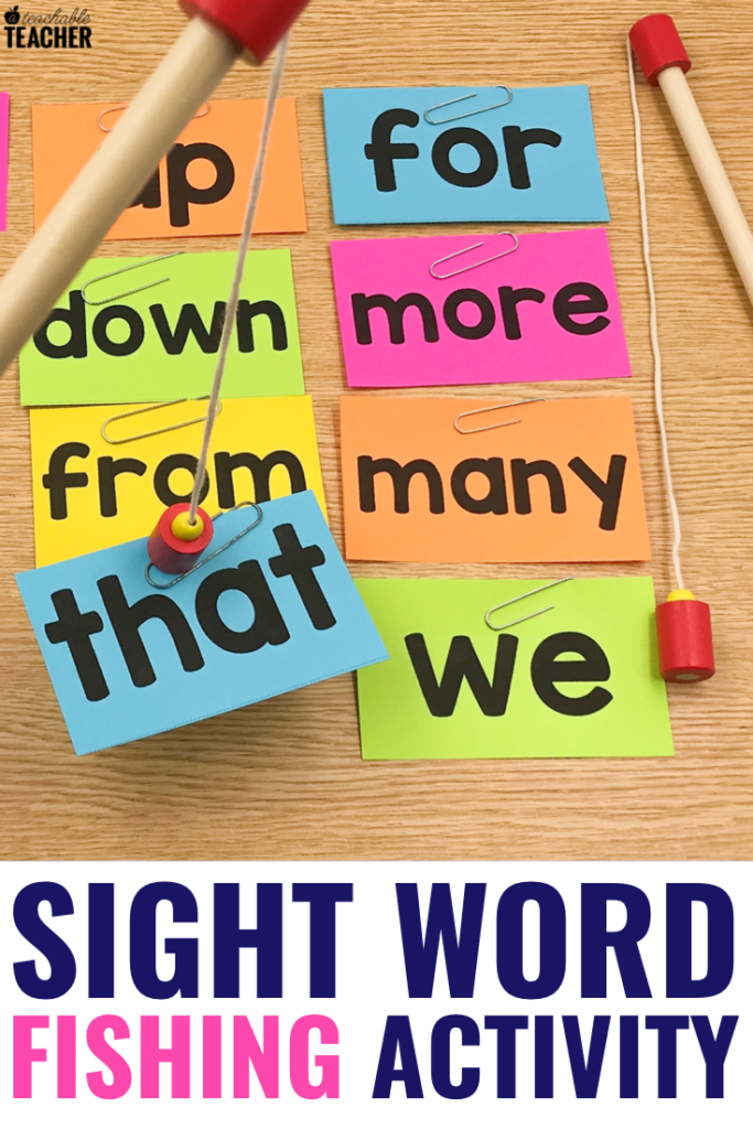 sight word fishing activity
