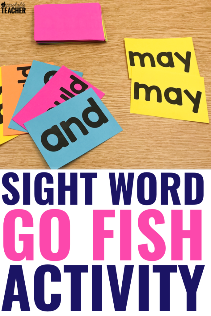 sight word go fish activity
