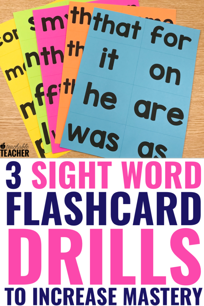 sight word flashcards drills
