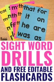 sight word drills