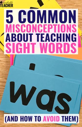teaching sight words