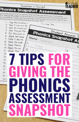 free phonics assessment tips