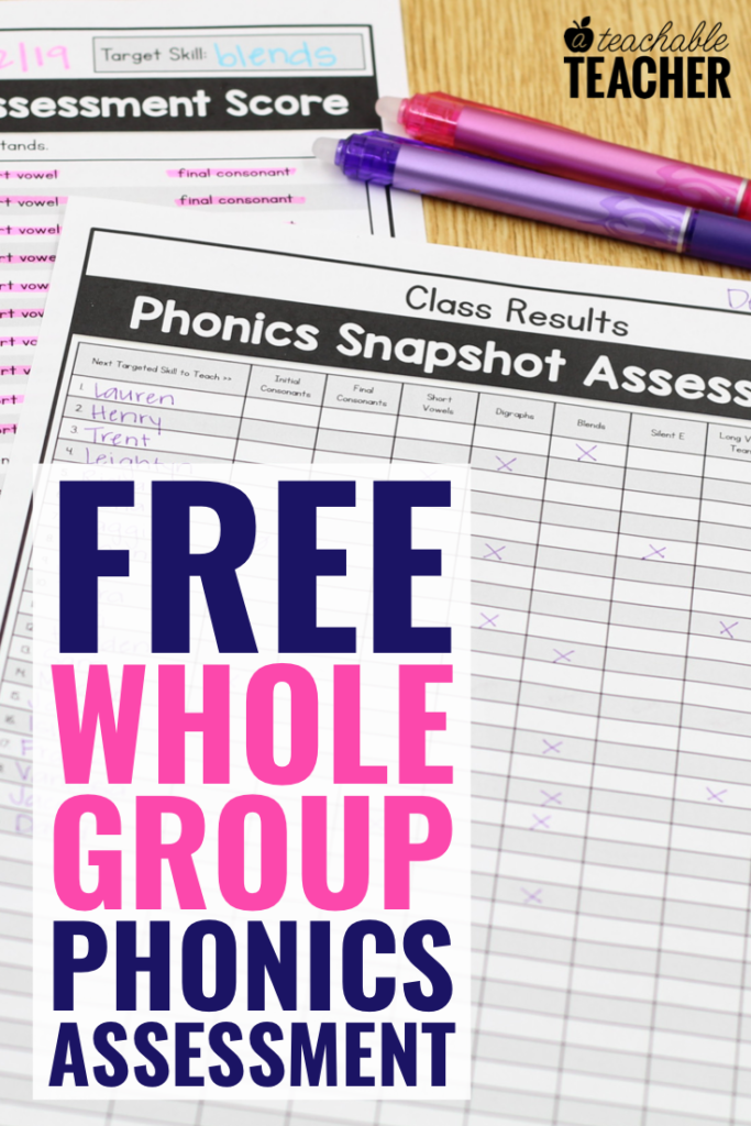 phonics Sample Scoring