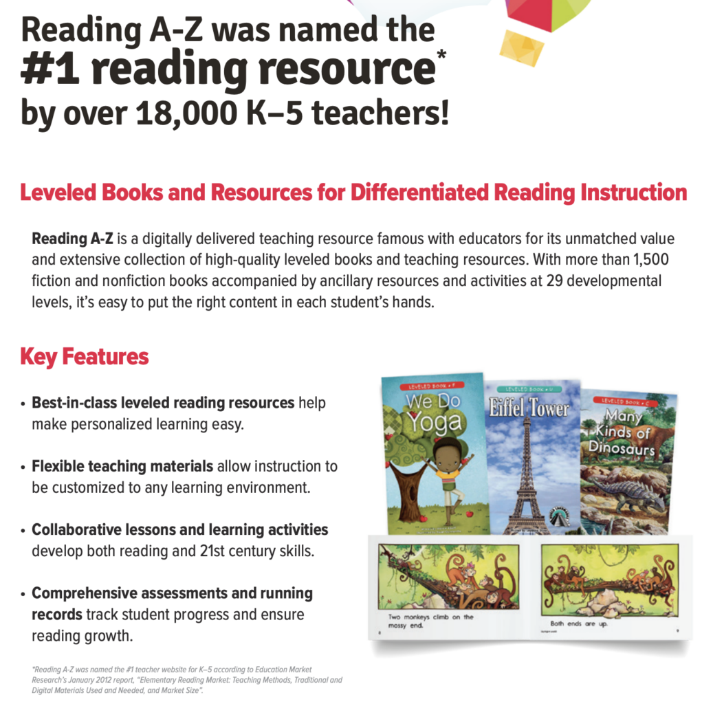 reading a-z online leveled books for kids to read