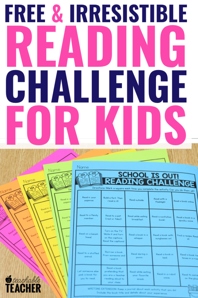 free reading challenge for kids