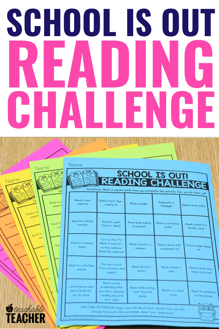 - Free Reading Challenge For Kids At Home - A Teachable Teacher