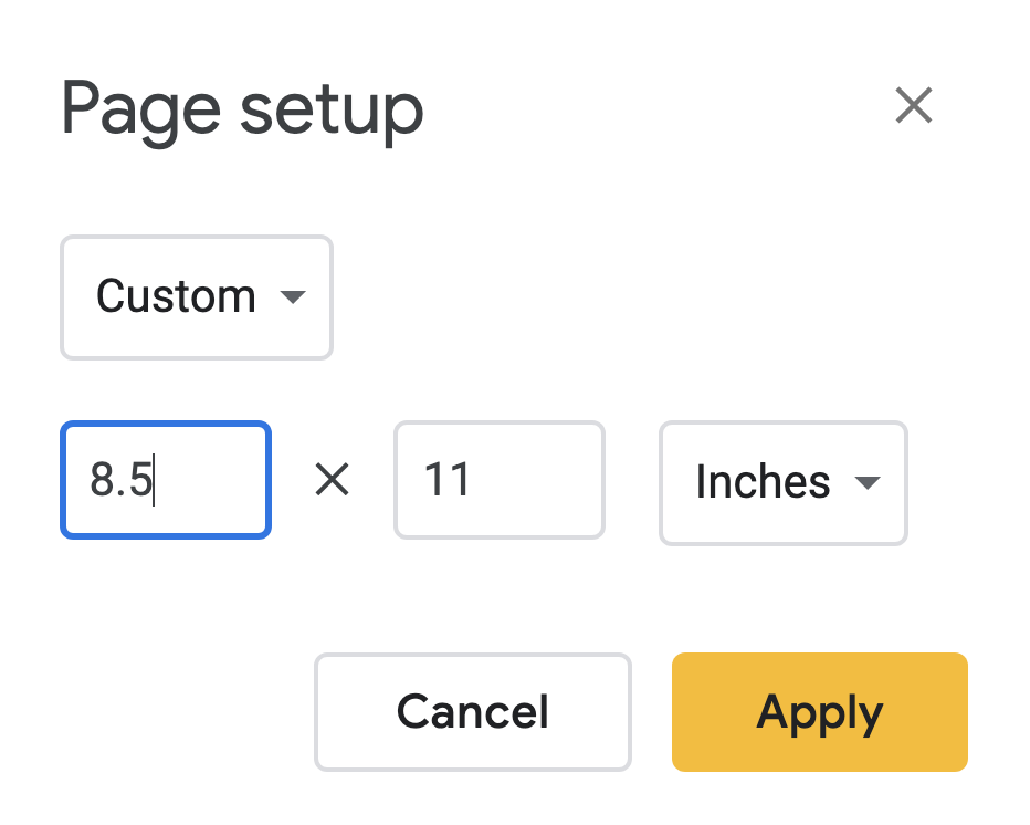 what size to make google slides for pdf resources