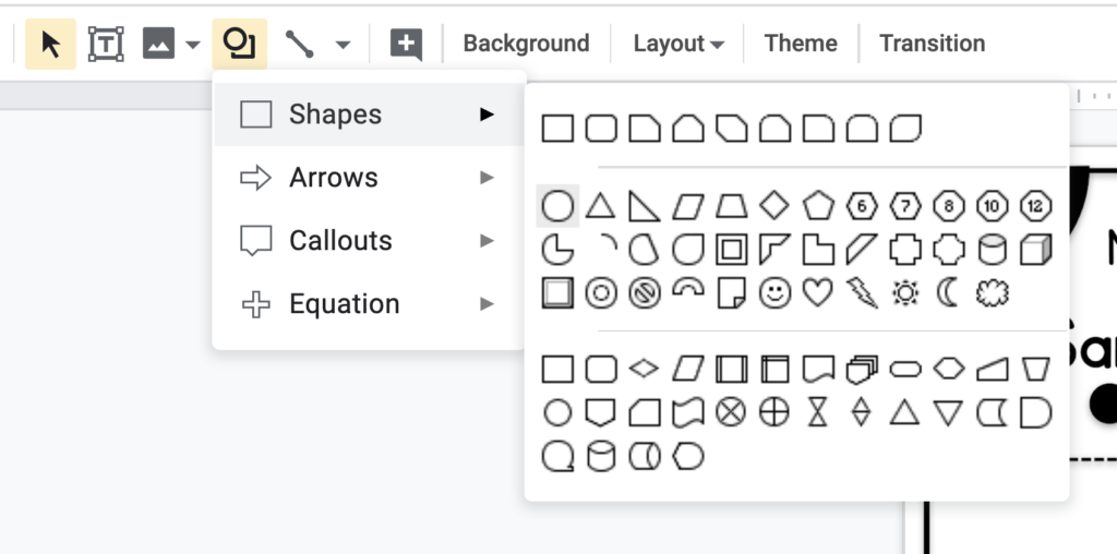 Adding interactive elements for any resource in google slides