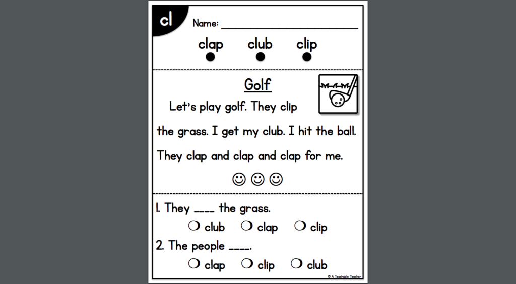 cl blend phonics resource screenshot