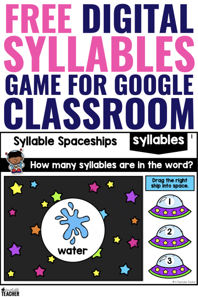 free digital syllables game