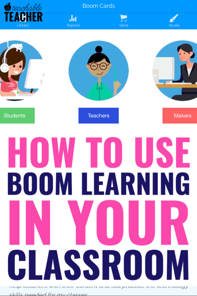 boom learning as a teacher