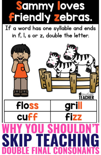 teaching double final consonants