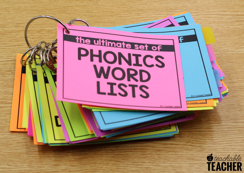The Ultimate Set of Phonics Word Lists Every Reading Teacher Needs