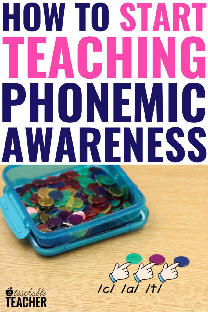 how to teach phonemic awareness