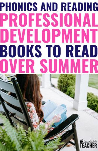 phonics and reading professional development books