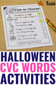 halloween cvc words sentences